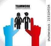 teamwork design over white... | Shutterstock .eps vector #215104534