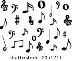 music notes background | Shutterstock .eps vector #2151211