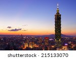 Taipei City Skyline At Sunset ...