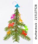 christmas tree made of fir...