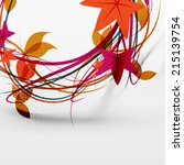 autumn leaves and lines... | Shutterstock . vector #215139754