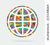 art symbol planet earth | Shutterstock .eps vector #215148664