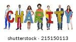 multiethnic group of people... | Shutterstock . vector #215150113