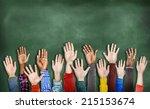 group of multiethnic diverse... | Shutterstock . vector #215153674