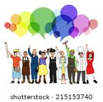 cheerful kids and various... | Shutterstock . vector #215153740