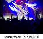 fans applauding to famous music ... | Shutterstock . vector #215153818
