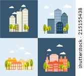 vector illustration  flat urban ... | Shutterstock .eps vector #215155438