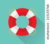 flat lifebelt icon | Shutterstock .eps vector #215155768