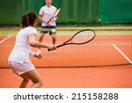 Tennis Players Playing A Match...