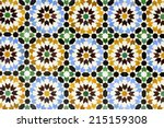 morrocan traditional mosaic... | Shutterstock . vector #215159308