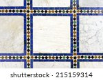 morrocan traditional mosaic... | Shutterstock . vector #215159314