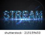 digitally generated stream made ...   Shutterstock . vector #215159653