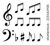 Set Of Music Notes Vector....