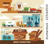 stages of production of bread.... | Shutterstock .eps vector #215163514