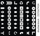 arrow sign icon set....