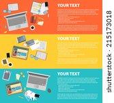 flat design vector illustration ... | Shutterstock .eps vector #215173018
