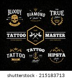 vector set of cool tattoo... | Shutterstock .eps vector #215183713