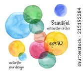 beautiful colorful watercolor... | Shutterstock .eps vector #215192284