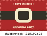 save the date christmas card.... | Shutterstock .eps vector #215192623