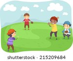 illustration featuring a group... | Shutterstock .eps vector #215209684
