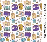 background of vintage suitcases.... | Shutterstock .eps vector #215228533