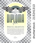 diploma with a motif of the... | Shutterstock .eps vector #215241313