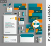 dynamic stationery template... | Shutterstock .eps vector #215253160