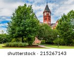 Historic building and campus at Auburn University in Auburn, Alabama