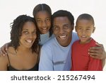 two generation family smiling ... | Shutterstock . vector #215267494