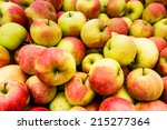 closeup of many just picked... | Shutterstock . vector #215277364