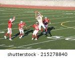 opposing american football... | Shutterstock . vector #215278840