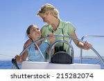 mother and daughter  8 10 ... | Shutterstock . vector #215282074