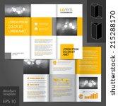 white classic vector brochure... | Shutterstock .eps vector #215288170