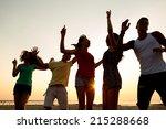 friendship  summer vacation ... | Shutterstock . vector #215288668