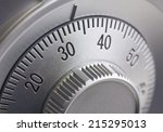 close up of a combination dial... | Shutterstock . vector #215295013