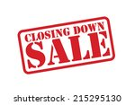 closing down sale red rubber...   Shutterstock .eps vector #215295130
