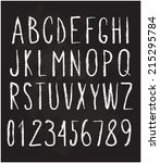 chalked alphabet and numbers | Shutterstock .eps vector #215295784