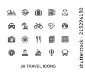 travel icons set. | Shutterstock .eps vector #215296150