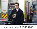 Small photo of ROZELLE, AUSTRALIA - SEPTEMBER 4, 2014; ABC News Reporter at the scene covering the tragic incident Rozelle after a suspicious shop explosion claimed the lives of three people and inured others.