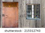 door and window  wooden... | Shutterstock . vector #215312743