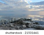 Sunset Over Bombay Beach At Th...