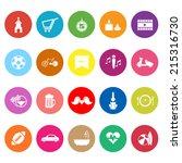 friday and weekend flat icons... | Shutterstock .eps vector #215316730