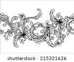 rnate border frame. baroque... | Shutterstock .eps vector #215321626