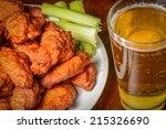 buffalo wings with celery...   Shutterstock . vector #215326690