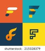 Vector Illustration Letter F Set