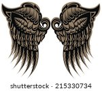 winged tattoo   Shutterstock .eps vector #215330734