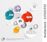 abstract 3d paper infographics | Shutterstock .eps vector #215331553