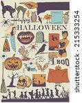 Retro Halloween Icons  Vector