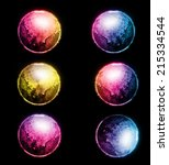 set of colorful planet | Shutterstock . vector #215334544
