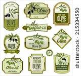 olive labels | Shutterstock .eps vector #215334550